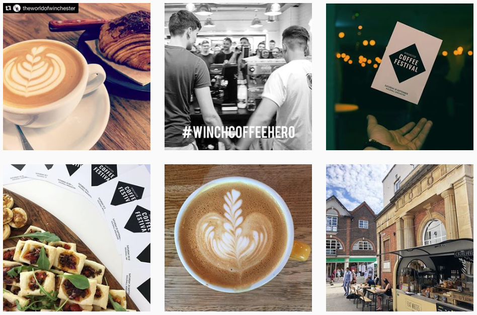 Winchester coffee festival Instagram feed
